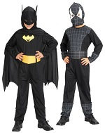 Детский карнавальный костюм - трансформер Человек Паук и Бэтмен, Спайдермен и Бетмен, 2 костюма в 1, артикул Е80745, фирма Snowmen, детские карнавальные костюмы, костюмы супергероев, костюмы киногероев, персонажей фильмов и комиксов