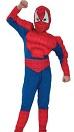 Костюм Человека-Паука, детский карнавальный костюм Человека Паука, Спайдермена с мускулатурой, артикул 87128-L, код 11350, фирма Лапландия, на 11-14 лет.