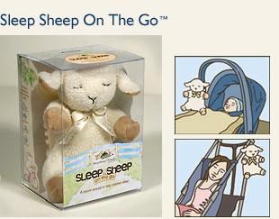 Сонный Ягненок в дорогу , сонная овечка для путешествий, Sleep Sheep on the go, Мягкая игрушка для релаксации и сна, игрушка со встроенным звуковым блоком, помогающая ребенку уснуть,  компактная версия большой Овечки, фирма CloudB - КлаудБи, США