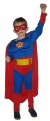 SNOWMEN, Е70841, костюм Супермена с мускулатурой, на 4-6, 7-10, 11-14 лет