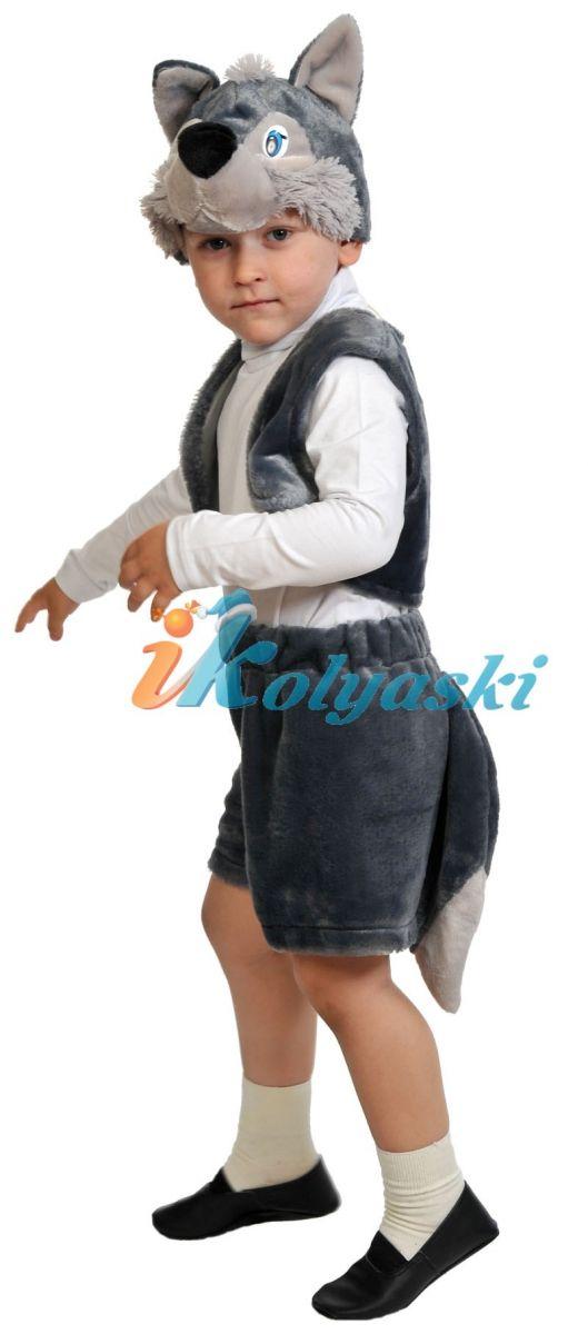Костюм Волчонок Лайт, детский карнавальный костюм Волка для мальчика, на 2-6 лет, рост 92-122 см. Костюм Волчонка состоит из шортиков с хвостом, жилета и шапки в виде головы волка