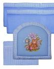 борта в кроватку для новорожденных Панно, цвет голубой