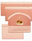 бортики в кроватку, Вышивка, цвет розовый