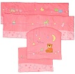 бартики в кроватку детскую, дизайн Элит New, цвет розовый, постель для девочки