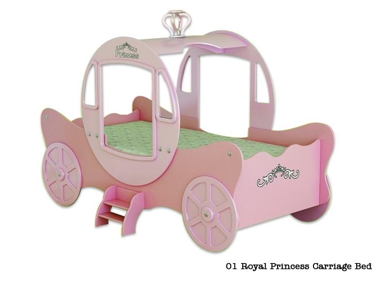 Кровать карета  Принцессы, материал МДФ,  розовая кровать карета  для девочек от трех лет и до 18.  Шикарный подарок в спальню настоящей Принцессы. Комфортная и удивительно красивая кровать для девочек от 3 лет. Сказочная детская кровать в виде кареты Золушки. О такой роскошной кровати мечтает каждая девочка. Размер спального места 190х90 см