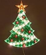 Гирлянда - вывеска, Новогодняя Электрическая Гирлянда Панно ЕЛКА, 100 разноцветных ламп, размер 61х45,5 см, артикул CH-212-100L, код 132574, фирма Laplandia.