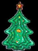 Электрическая гирлянда панно ЕЛКА, 118 зеленых ламп в пластиковой раме, размер панно 64х44 см, 8 режимов мигания, цвет ламп зелеый, верхушка звезда  красная, зеленый провод, упакована электрогирлянда в пакете на хедере. Гирлянда - вывеска Елка автоматически меняет свои 8 режимов мигания. Купить электрогирлянды на окно и на стену можно оптом и в розницу. Электрические световые новогодние панно для украшения квартир, частных домов и учреждений.
