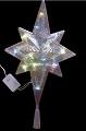 Новогодняя электрическая гирлянда - Рождественская Восьмиконечная Звезда, верхушка на елку, размер 38 см, 20 цветных ламп, 220V, 8 режимов, упакована в коробке, артикул CH-426-20L, код 151411, фирма Laplandia, светящаяся верхушка на елку, звезда на елку, макугка елки, наконечник, светящаяся звезда на елку