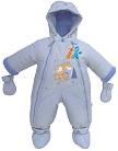 Детский демисезонный комбинезон, комбинезон на осень для ребенка, детский осенний комбинезон Дисней, артикул 208-1А, цвет голубой, отделка аппликация с вышивкой, размер 80 см. Весенний комбинезон трансформер  для мальчика.