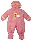 Детский демисезонный комбинезон, комбинезон на осень для ребенка, детский осенний комбинезон Дисней, артикул 209-1А, цвет розовый, размеры 74 см и 80 см. Весенний комбинезон для девочки, отделка - аппликация и вышивка