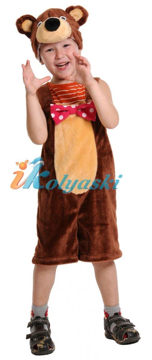 Костюм Медведя циркового ПЛЮШ , костюм Медведя бурого детский, костюм медведя детский Маша и Медведь, размер единый, на 2-6 лет, рост 92-122 см, артикул 3041. В комплекте: полукомбинезон и шапка