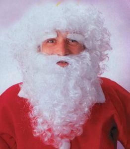 новогодний аксессуар - комплект парик, борода, усы, брови Деда Мороза