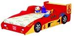 Детская кровать машина - Гоночная машина Формула 1 -  Racing Car F1, артикул 350, кровать для ребенка в возрасте от 3-х до 16 лет,  кровать машина изготовлена из материала МДФ