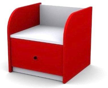 Тумбочка прикроватная, цвет красный, материал МДФ, детская мебель, мебель для детской комнаты, где купить детскую мебель