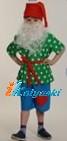 Костюм Гнома Добряка с бородой, размер М рост 128-134 см, на 7-8 лет, артикул 5007-М. В комплекте: колпак, шорты, рубаха, пояс, борода