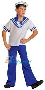 Костюм Морячок, детский костюм моряка для мальчика, детский военный костюм матроса, размер L, на 9-10 лет, рост 134-140 см