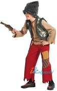 Костюм Разбойника с мушкетом, размер М, рост 128-134 см, на 7-8 лет, артикул 5043-М.