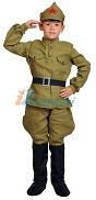 Костюм Красноармейца для мальчика, детский военный костюм солдата Красной Армии, костюм кавалериста, костюм чапаевца, размер L, рост 134-140 см, на 10-12  лет,