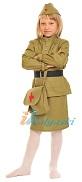 Детский костюм военной медсестры, военная форма медсестры для девочки, форма ВОВ, размер S, рост 116-122 см, на 4-7 лет