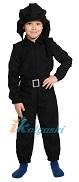 Детский костюм танкиста, военная униформа на карнавал для мальчиков, размер L, на 9-10 лет, рост 134-140 см