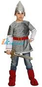 Костюм Богатыря Алеши с мечом, костюм русского богатыря, размер М, рост 128-134 см, на 7-9 лет, артикул 5119-М