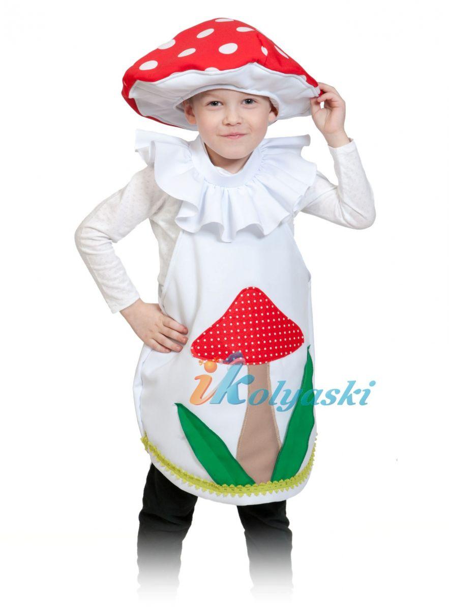 Костюм Мухомора детский, костюм Мухомора для мальчика, костюм Мухомора для девочки, единый размер, на 4-7 лет, рос 98-128 см.