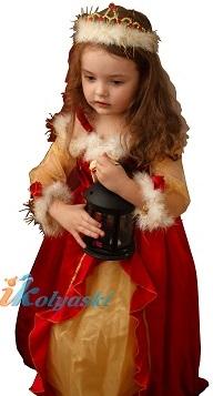 Роскошное фирменное диснеевское платье Белль, красно-золотое платье Белль