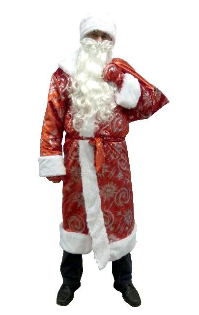 Костюм Деда Мороза для взрослых, серия Карнавалия текстиль
