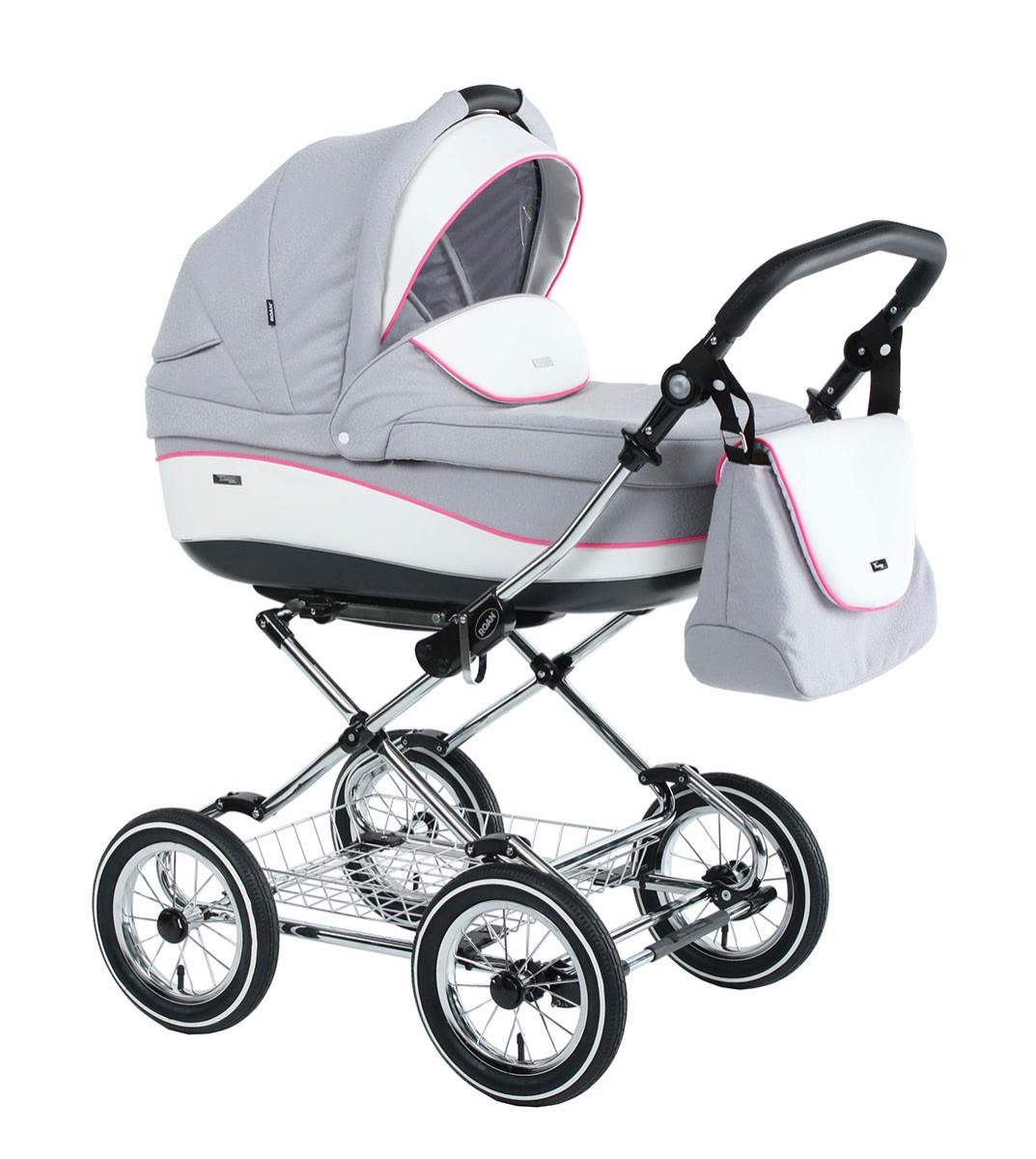 Детская коляска для новорожденных 3 в 1, Roan Emma - Роан Эмма, самая модная коляска для новорожденных, модные коляски, купить коляску для новорожденного, детские коляски роан, детские коляски roan, Roan Emma, цвет RP7