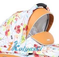 Детская коляска для новорожденных Roan Emma Chrome 3 в 1, Роан Эмма Хром на 14 дюймовых надувных колесах, цвет E3