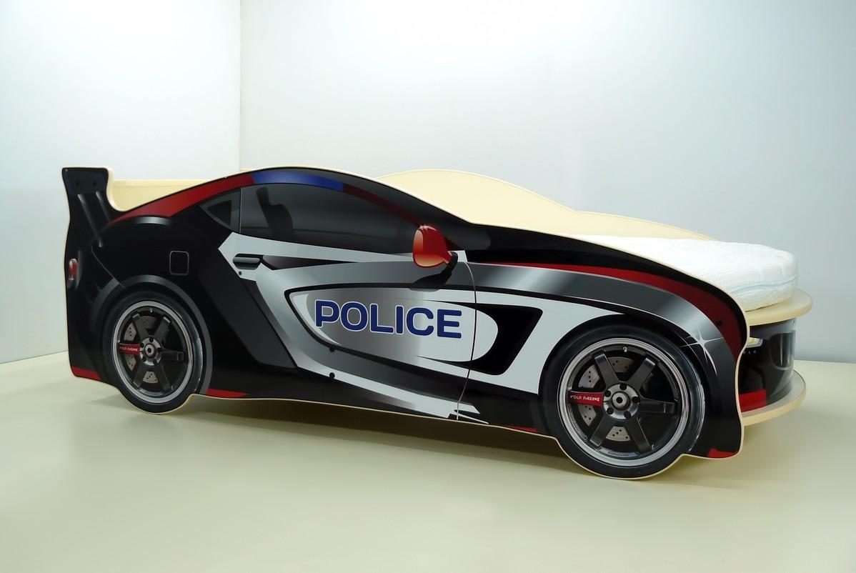 Детская кровать машина ПОЛИЦИЯ с матрасом, детская кровать в виде полицейской машины, детская кровать в виде машины, детская кровать машина купить, детская кровать машина недорого, детские кровати машины, детская кровать машина необычная