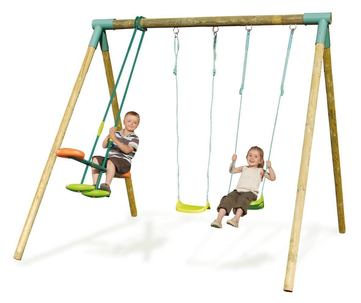 Делам деревянные качели ребенку