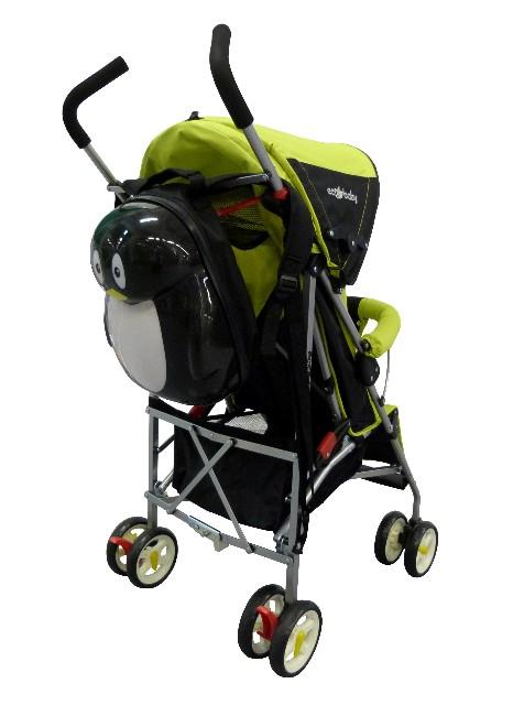 коляска-трость Ecobaby Tropic, Экобеби Тропик,цвет графитовый с желтым, детская коляска трость, легкая трость, легкая коляска трость купить, бампер, колпак до бампера