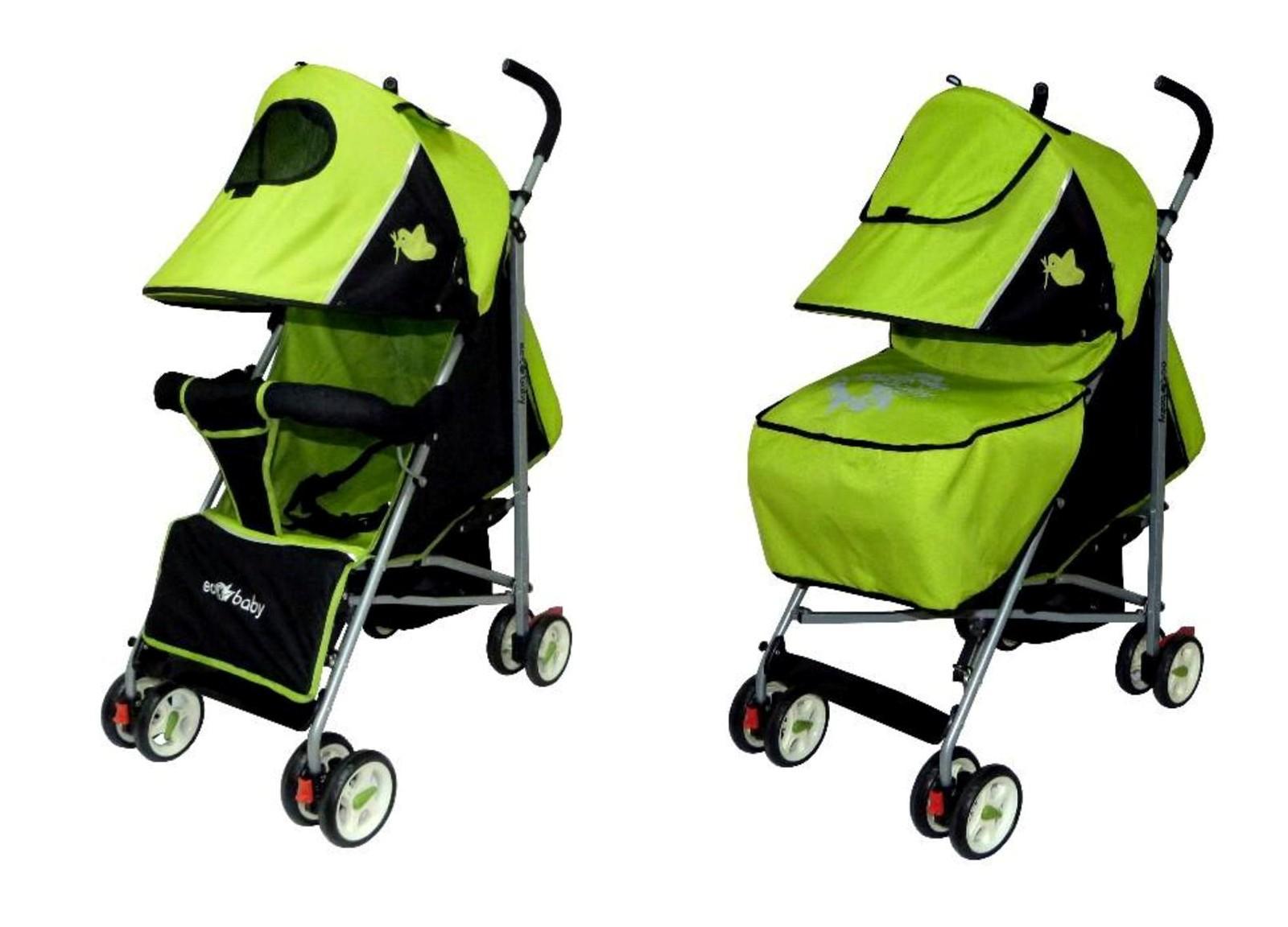 детская коляска трость Ecobaby Tropic - Экобейби Тропик с накидкой на ножки
