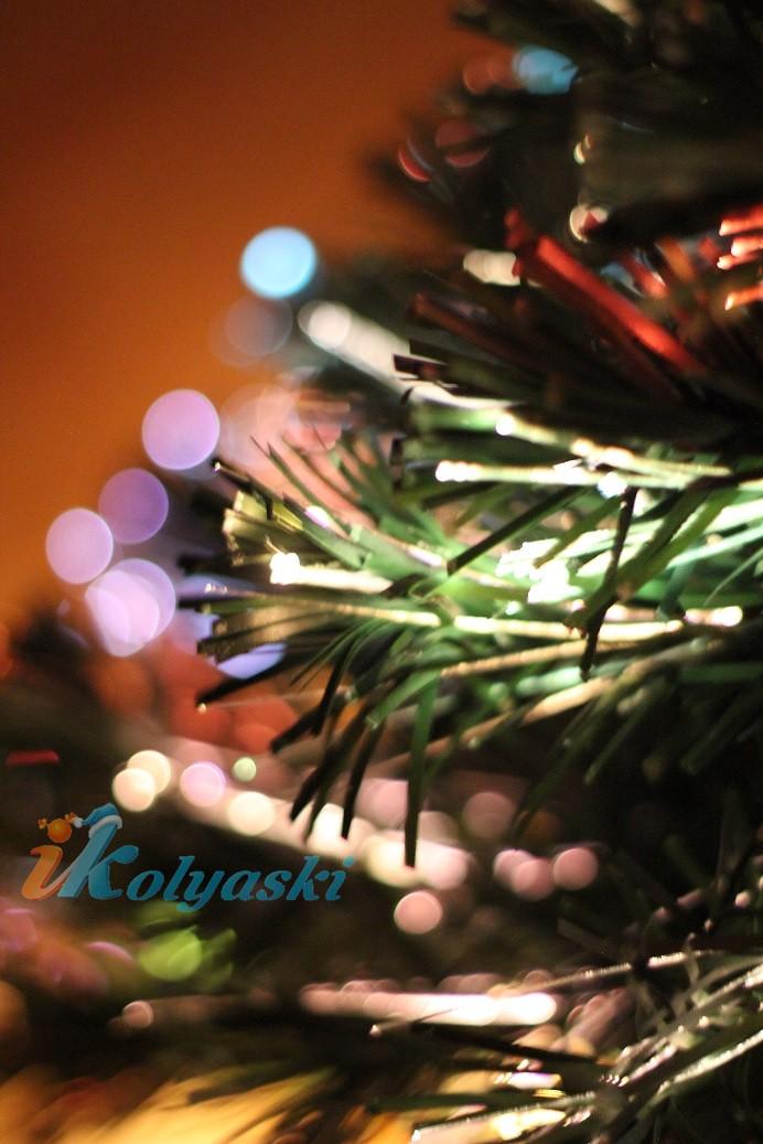 Новогодняя елка световод из пожаробезопасного волокна Королевская пушистая 120 см