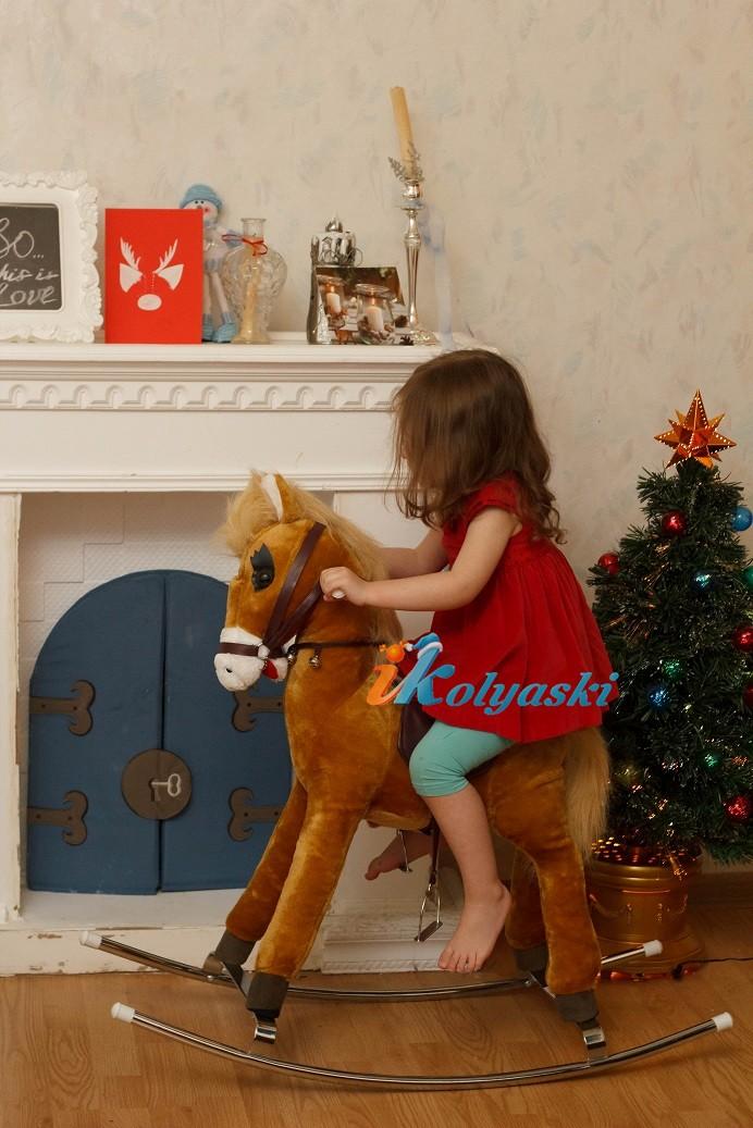 Детская лошадка-качалка, с гипоаллергенным мехом, металлическая качалка, озвученная, на батарейках, Любимка, купить лошадку качалку, детская лошадка качалка, лошадка качалка купить, детские лошадки качалки фото, лошадка качалка купить, лошадка качал