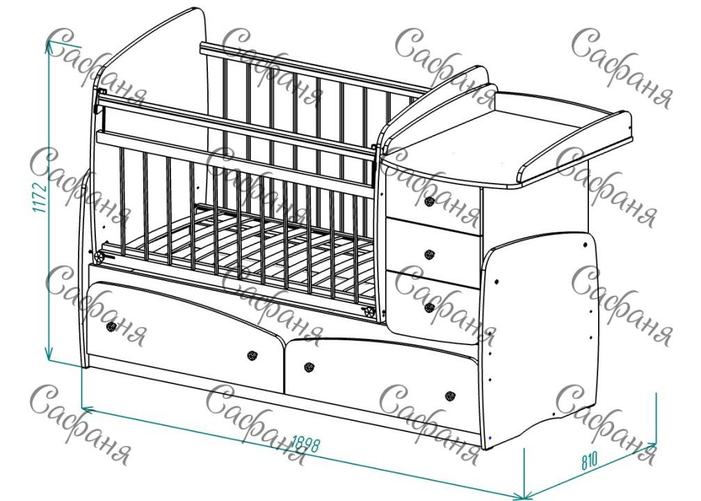 Детская кроватка-трансформер для новорожденных Сафаня МДФ БАБОЧКА, кроватка с поперечным маятником и с пеленальным комодом, цвет ВЕНГЕ-ВАНИЛЬ С САЛАТОВОЙ БАБОЧКОЙ.   Детская кроватка-трансформер для новорожденных Сафаня, кроватка с поперечным маятником и с пеленальным комодом, Детская кроватка-трансформер для новорожденных, кроватка с поперечным маятником и с пеленальным комодом, детские кроватки трансформеры, кроватка трансформер, детский кроватки трансформеры, детские кроватки трансформеры, кроватка трансформер для новорожденных