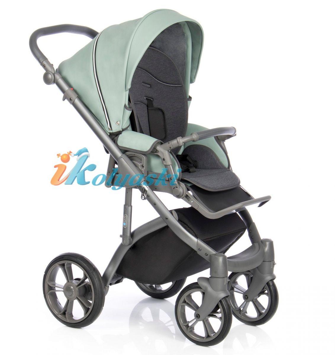Roan Bass Soft Misty Mint Eco-Leather коляска для новорожденных новинка