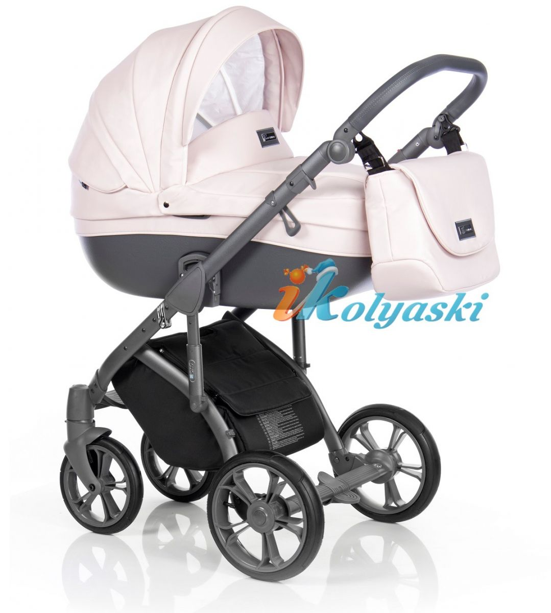 Roan Bass Soft Romantic Pink NEW Eco-Leather коляска для новорожденных новинка