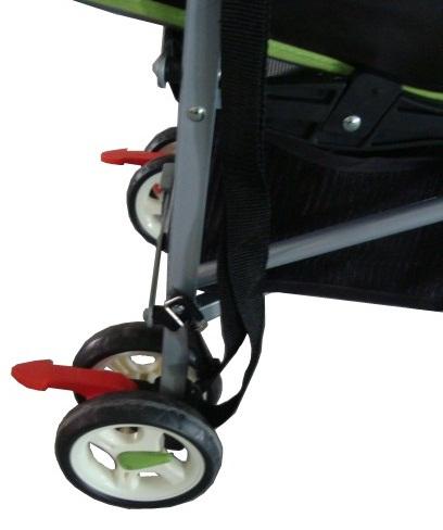 Ecobaby Tropic - Экобейби Тропик - детская коляска трость, коллекция осень-зима 2012-2013, стояночные тормоза в виде стрелочек, есть ремень для переноски и вместительная грузовая корзина снизу под сидением