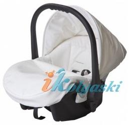 Автокресло Lonex, автокресло детское с крышей и теплой накидкой на ножки, автокресло для новорожденного,  автолюлька для младенца, обшивка Эко - кожа,  кожаное автокресло группы 0+ с адаптерами для установки на шасси колясок Lonex.