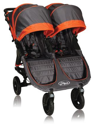 элитная детская коляска для двойни, новинка 2012 Baby Jogger City Mini GT Double orange/gray