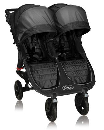 элитная детская коляска для двойни, новинка 2012 Baby Jogger City Mini GT Double black/gray