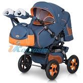 Новая немецкая коляска трансформер для новорожденных Nicolas Car. Новинка сезона 2014-2015. Идеальный ход, мягкая многоуровневая регулируемая подвеска, безукоризненный пошив, свежий дизайн, яркие надувные колеса, прекрасный стильный внешний вид, комфортное спальное место для любимого малыша на вырост, удобство деталей, немецкое качество, доступная цена - все эти характеристики сделали эту немецкую детскую коляску особенно привлекательной для всех российских покупателей, для современных требовательных родителей.