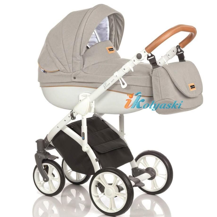 Детская коляска для новорожденных Roan Bass Soft LE, коляска 3 в 1, Роан Басс Софт 3 в 1, купить коляску 3 в 1, модные коляски 3 в 1, лучшие коляски 3 в 1, коляски для новорожденных 3 в 1, коляска на поворотных колесах, Roan Bass Soft, роан басс софт купить, роан басс софт 3 в 1 купить, roan bass soft 3 в 1 купить, Roan Bass Soft  Jeans Collection Sand Cognac
