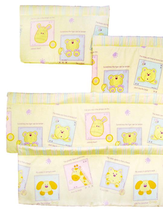 Борта в детскую кроватку для новорожденных SWEET DREAMS, артикул 003-15, цвет бежевый, бортики в кроватку для новорожденного, размер 42х365 см, производство российской фирмы Kisdcomfort.
