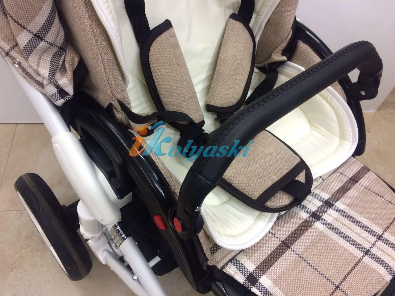 Little Trek Avenir фирменная, оригинальная, Детская спальная коляска для новорожденных два в одном 2 в 1 Литтл Трек Авенир. В прогулочном блоке 5-ти точечная система ремней безопасности, вкладыш из бамбукового волокна на лето и для самых маленьких, бампер съемный,  регулируемый, 7 положений по высоте