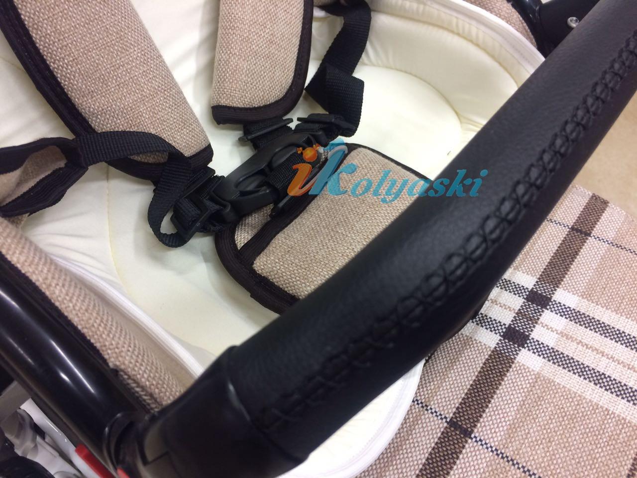 Little Trek Avenir фирменная, оригинальная, Детская спальная коляска для новорожденных два в одном 2 в 1 Литтл Трек Авенир. В прогулочном блоке 5-ти точечная система ремней безопасности, вкладыш из бамбукового волокна на лето и для самых маленьких, бампер съемный,  регулируемый, 7 положений по высоте, обтянут экокожей