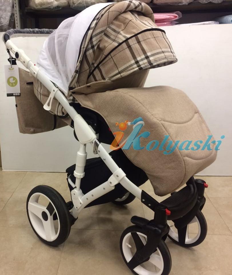 Коляска для новорожденных Little Trek Avenir , прогулочный блок с теплой накидкой на ноги