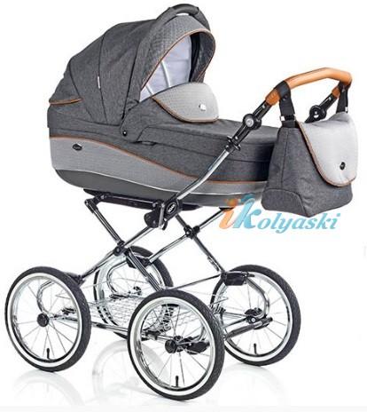 Детская коляска для новорожденных Roan Emma Chrome 2 в 1, Роан Эмма Хром на 14 дюймовых надувных колесах, коляски для новорожденных. коляски 2 в 1, коляска roan emma, коляска Roan Emma купить, модные коляски 2018, лучшие коляски 2018, самая модная коляска, цвет Е60
